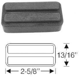 1957 1958 Cadillac Parking Brake Release Pedal Pad REPRODUCTION