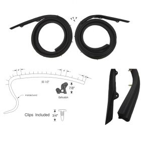 1959 1960 Cadillac 4-Door 6-Window Sedan (See Details) Roof Rail Weatherstrips 1 Pair REPRODUCTION Free Shipping In The USA