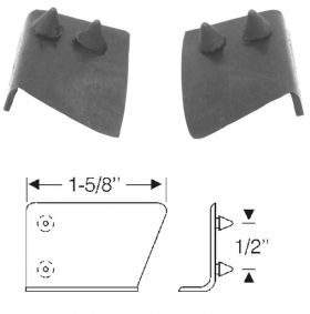 1961 1962 Cadillac 4-Door (EXCEPT Series 75 Limousine) Front Door Hinge Pillar At Beltline Seals 1 Pair REPRODUCTION Free Shipping In The USA