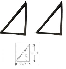 1961 1962 1963 1964 Cadillac (See Details) 4-Door 6-Window Rear Quarter Window Vent Rubber Weatherstrips 1 Pair REPRODUCTION Free Shipping In The USA
