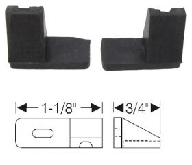 1957 1958 Cadillac 2-Door Hardtop Roof Rail Filler Rubber Weatherstrips 1 Pair REPRODUCTION Free Shipping in the USA