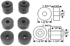 1957 1958 Cadillac Prop Shaft Center Support Retainer Set (6 Pieces) REPRODUCTION Free Shipping In The USA