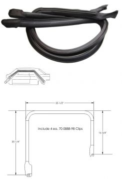1971 1972 1973 1974 1975 1976 Cadillac Fleetwood Brougham Rear Door Roof Rail Weatherstrips 1 Pair REPRODUCTION Free Shipping In The USA