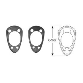 1954 1955 1956 Cadillac (See Details) Air Conditioning Air Intake Scoop Mounting Pads 1 Pair  REPRODUCTION Free Shipping In The USA