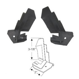 1967 1968 Cadillac Convertible Rear Quarter Window Filler Rubber Weatherstrips 1 Pair REPRODUCTION Free Shipping In The USA