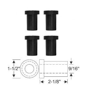 1967 1968 1969 1970 Cadillac Eldorado Shackle Leaf Spring Bushing Set of 4 Pieces (Rear Upper of Rear Leaf Spring) REPRODUCTION Free Shipping In The USA