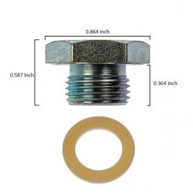 1949 1950 1951 1952 1953 1954 1955 1956 1957 1958 1959 1960 1961 1962 1963 1964 1965 Cadillac Engine Oil Pan Drain Plug With Gasket REPRODUCTION