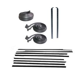 1970 Cadillac 2-Door Hardtop (EXCEPT Eldorado) Basic Rubber Weatherstrip Kit (14 Pieces) REPRODUCTION Free Shipping In The USA