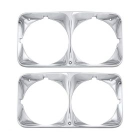 1973 1974  Cadillac Eldorado Headlight Bezels 1 Pair REPRODUCTION Free Shipping In The USA