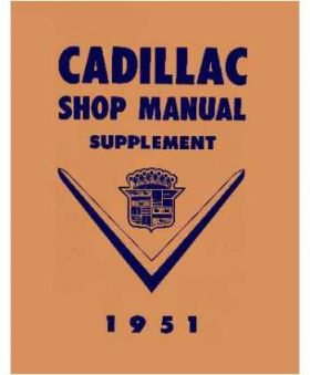 1951 Cadillac Shop Manual Supplement REPRODUCTION Free Shipping In The USA