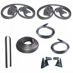 1971 1972 1973 Cadillac Calais And Deville 2-Door Hardtop Basic Rubber Weatherstrip Kit (9 Pieces) REPRODUCTION Free Shipping In The USA