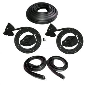 1971 1972 1973 1974 1975 1976 Cadillac Eldorado 2-Door Hardtop Basic Rubber Weatherstrip Kit (5 Pieces) REPRODUCTION Free Shipping In The USA