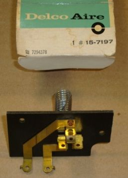 1966 Cadillac (Series 75 Limousine Only) A/C Heater Blower Resistor NOS Free Shipping In The USA