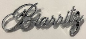 1976 1977 1978 Cadillac Biarritz Trunk Script REPRODUCTION Free Shipping In The USA