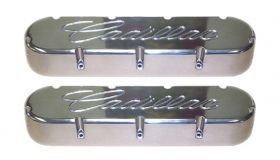 1968 1969 1970 1971 1972 1973 1974 1975 1976 1977 1978 1979 1980 1981 1982 1983 1984 Cadillac Flat Top Style Valve Covers with Machined Script Polished Finish 1 Pair REPRODUCTION Free Shipping In The USA