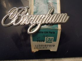 1980 1981 Cadillac Brougham Roof Panel Script NOS Free Shipping In The USA