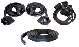 1980 1981 1982 1983 1984 1985 Cadillac Seville Basic Rubber Weatherstrip Kit (5 Pieces) REPRODUCTION Free Shipping In The USA