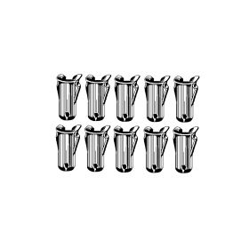 Cadillac Emblem And Script 5/32 Inch Stud Barrel Nut Set (For 7/32 Inch Holes; 0.062 - 0.068 Inch Panel Range) (10 Pieces) REPRODUCTION