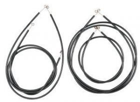 1954 1955 1956 Cadillac WITHOUT Air Conditioning Vent Control Cable Set (4 Pieces) REPRODUCTION Free Shipping In The USA