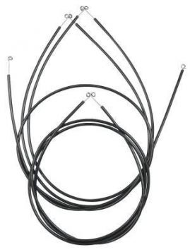 1957 1958 Cadillac WITH Air Conditioning (EXCEPT Series 75 Limousine and Commercial Chassis) Heater Cable Set (4 Pieces) REPRODUCTION Free Shipping In The USA