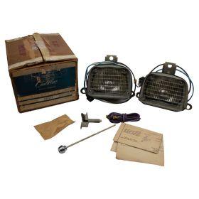 1958 Cadillac (EXCEPT Eldorado Brougham) Fog Light Kit NOS Free Shipping In The USA