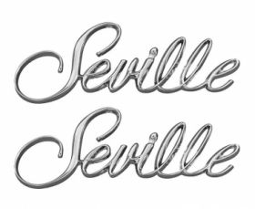 1976 1977 1978 1979 1980 1981 Cadillac Seville Fender Scripts 1 Pair REPRODUCTION Free Shipping In The USA