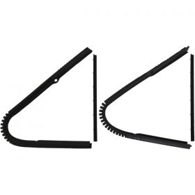1937 1938 Cadillac (See Details) Front Vent Window Rubber Weatherstrip Kit (4 Pieces) REPRODUCTION Free Shipping In The USA