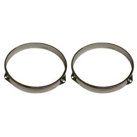 1940 1941 1942 1946 1947 1948 1949 1950 1951 1952 1953 1954 1955 Cadillac (See Details) Headlight Retaining Rings 1 Pair REPRODUCTION Free Shipping In The USA
