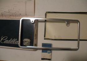 1963 1964 1965 1966 1967 1968 1969 1970 Cadillac Front or Rear  License Plate Frame NOS Free Shipping In The USA