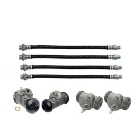 1958 1959 1960 Cadillac (EXCEPT Commercial Chassis) Basic Drum Brake Kit (8 Pieces) REPRODUCTION Free Shipping In The USA