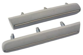 1975 1976 1977 1978 Cadillac Eldorado Front Impact Bumper Vertical Strips 1 Pair REPRODUCTION Free Shipping In The USA