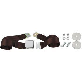 Cadillac Seat Belt Lap Style Brown REPRODUCTION Free Shipping In The USA