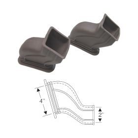 1949 Cadillac (EXCEPT Series 75 Limousine) Brown Rubber Defroster Ducts 1 Pair REPRODUCTION Free Shipping In The USA