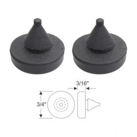1941 1942 1946 1947 1948 1949 1950 1951 1952 1953 Cadillac (See Details) Hood and Door Rubber Bumper 1 Pair REPRODUCTION