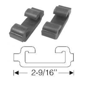 1941 Cadillac (See Details) Front & Rear Rubber Bumper Spacers 1 Pair REPRODUCTION Free Shipping (See Details)