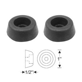 1941 1942 1946 1947 Cadillac (See Details) Trunk Rubber Bumper 1 Pair REPRODUCTION