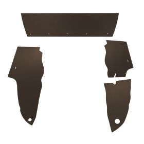 1949 Cadillac Sedan Brown Trunk Side Panels Panelboard With Binding (4 Pieces) REPRODUCTION