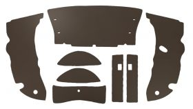 1950 Cadillac 2-Door Hardtop Brown Trunk Side Panels Panelboard With Binding (8 Pieces) REPRODUCTION