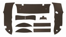 1950 1951 1952 1953 Cadillac 4-Door Sedan Brown Trunk Side Panels Panelboard With Binding (9 Pieces) REPRODUCTION