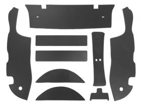 1953 Cadillac Fleetwood 4-Door Sedan Trunk Side Panels (9 Pieces) Panelboard With Binding (See Details For Color Options) REPRODUCTION