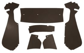 1954 Cadillac Coupe Brown Trunk Side Panels Panelboard With Binding (6 Pieces) REPRODUCTION