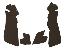 1954 Cadillac Series 62 Sedan Brown Trunk Panels Panelboard With Binding (4 Pieces) REPRODUCTION
