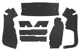 1954 1955 Cadillac Series 60 Special Trunk Side Panels (8 pieces) Panelboard With Binding (See Details For Color Options) REPRODUCTION