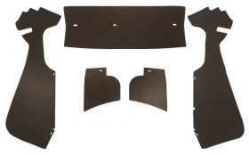 1956 Cadillac Coupe Deville Brown Trunk Side Panels Panelboard With Binding (5 Pieces) REPRODUCTION