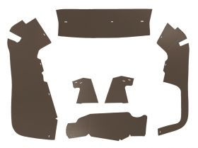 1956 Cadillac Series 60 Special and Sedan Deville Trunk Side Panels Brown Panelboard With Binding (6 Pieces) REPRODUCTION