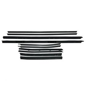 1971 1972 1973 1974 Cadillac Convertible Eldorado Window Sweep Set (10 Pieces) REPRODUCTION Free Shipping In The USA