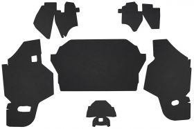 1969 1970 Cadillac Sedan DeVille Double Black Trunk Side Panels Panelboard (6 Pieces) REPRODUCTION