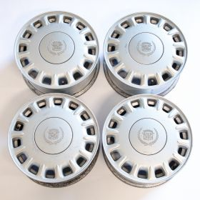 1993 1994 1995  Cadillac Seville 16 x 7 Aluminum Ally Wheel Rim Set With Center Caps (4 Pieces) USED