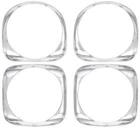1966 Cadillac Headlight Bezels (set of 4) REPRODUCTION  Free Shipping In The USA