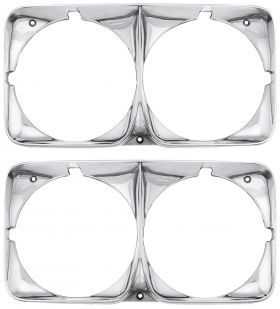 1969 Cadillac Headlight Bezel Set 1 Pair REPRODUCTION  Free Shipping In The USA